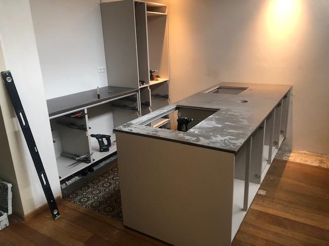 Keuken in progress